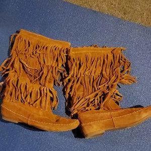 Lc Lauren Conrad suede boots